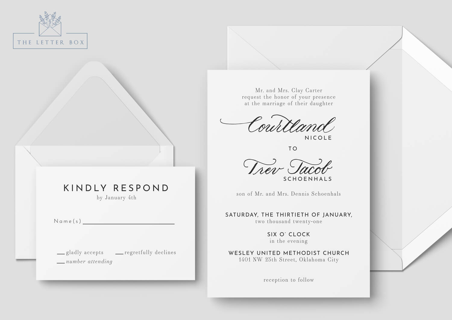Brio Semi Custom Wedding Invitation Suite