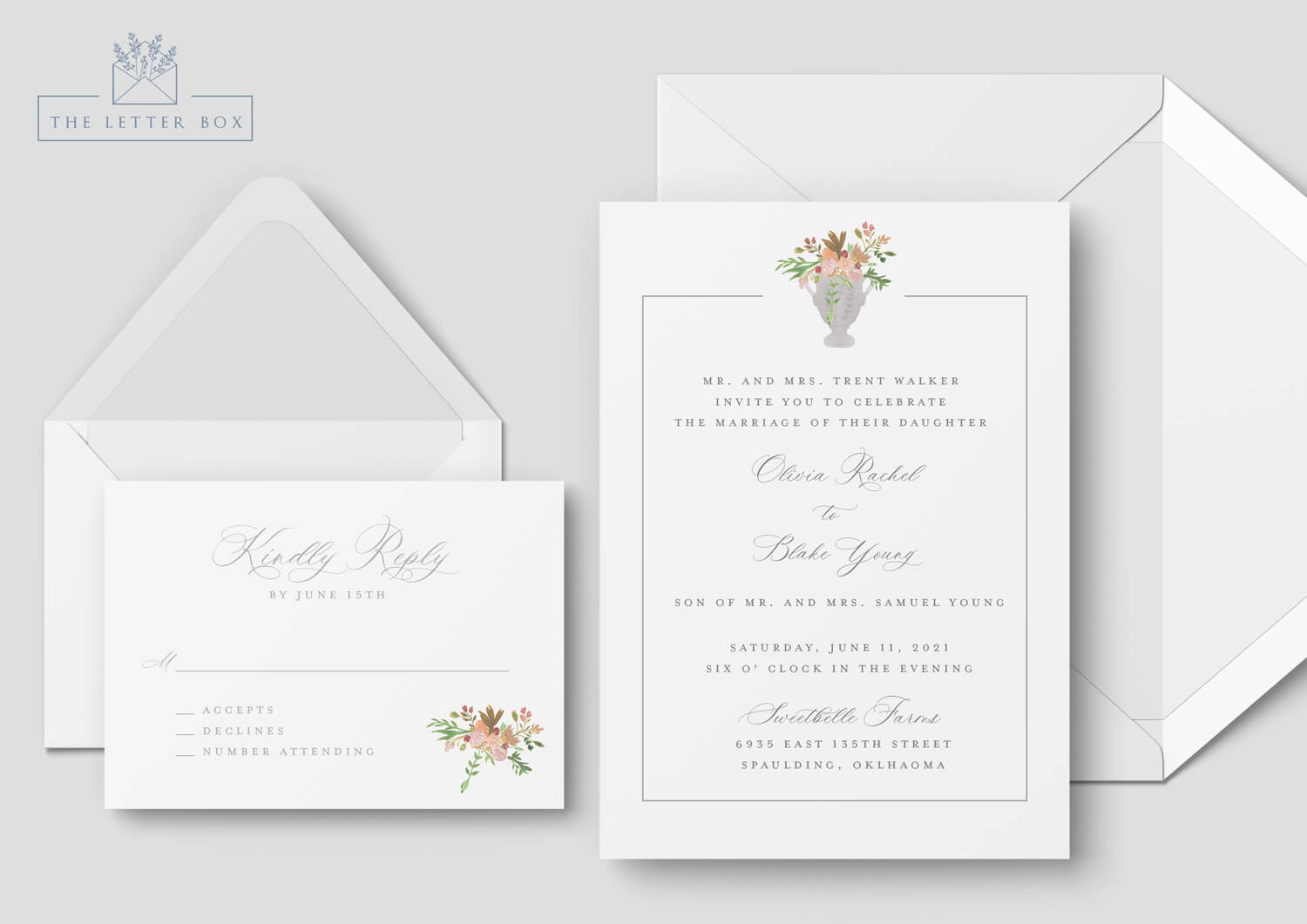 Charm Semi Custom Wedding Invitation Suite