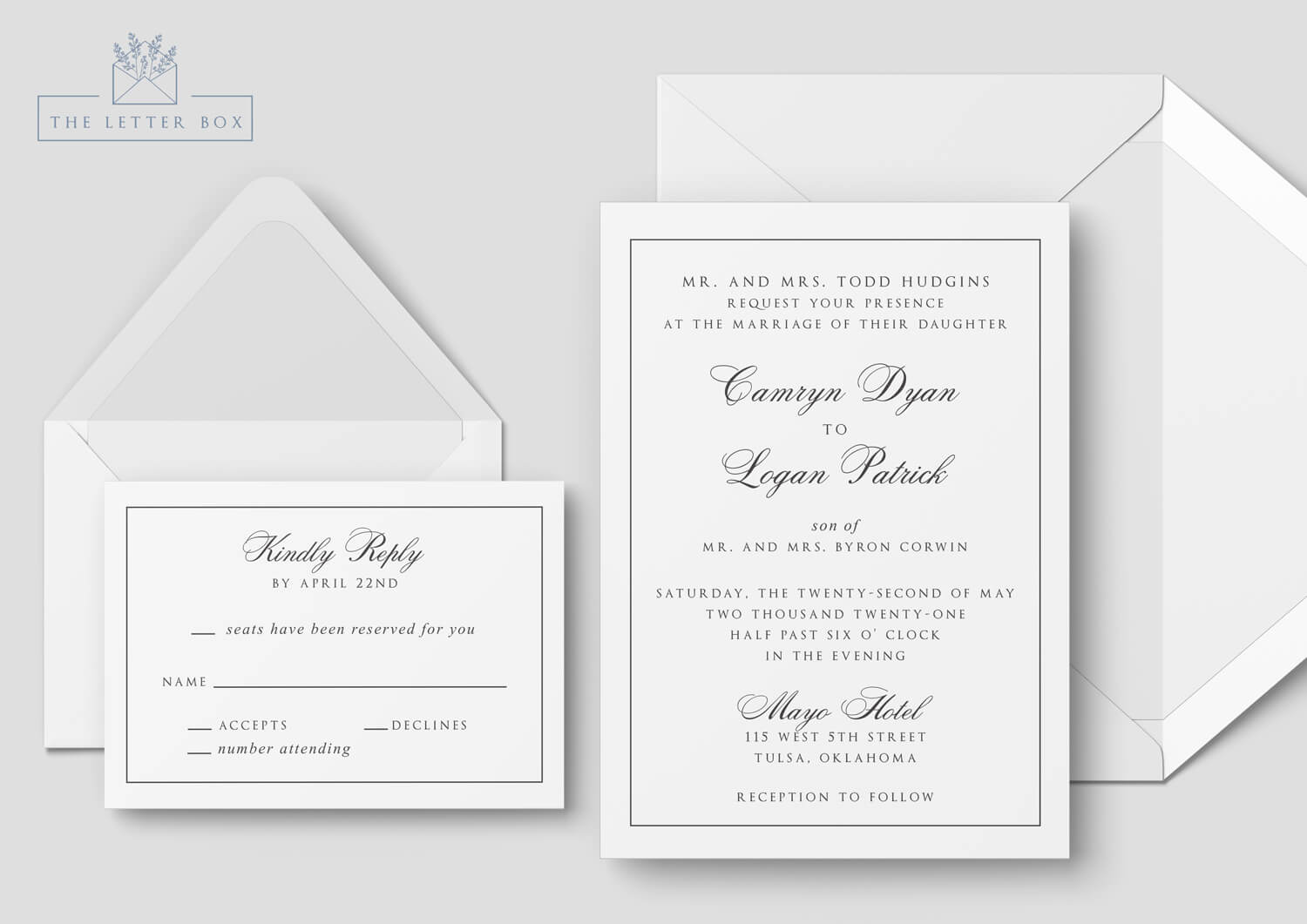 Elan Semi Custom Wedding Invitation Suite