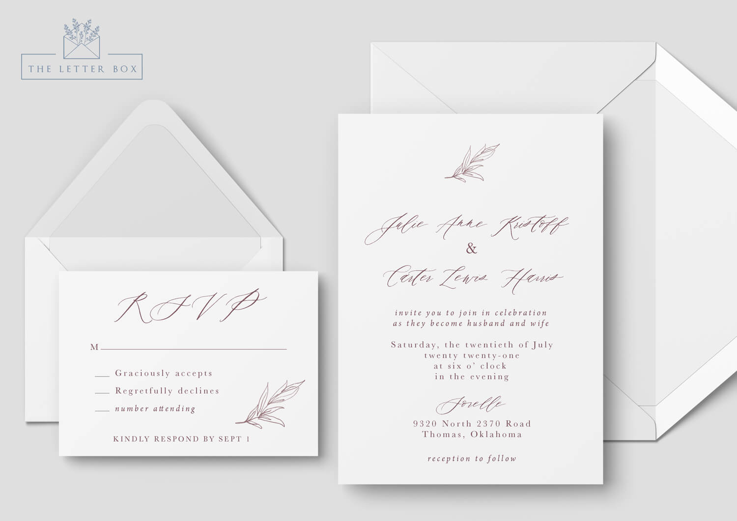 Flow Semi Custom Wedding Invitation Suite