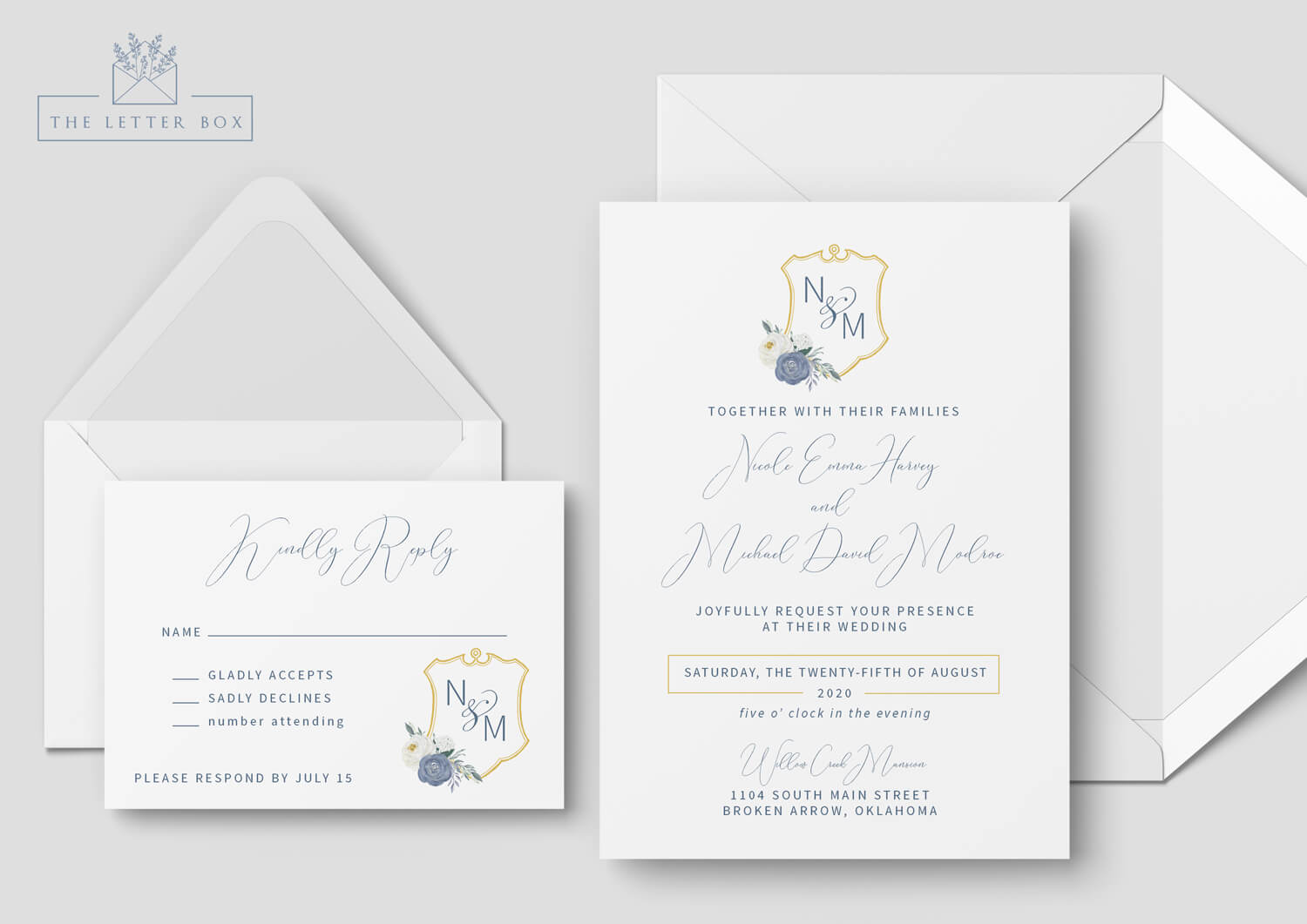 France Semi Custom Wedding Invitation Suite
