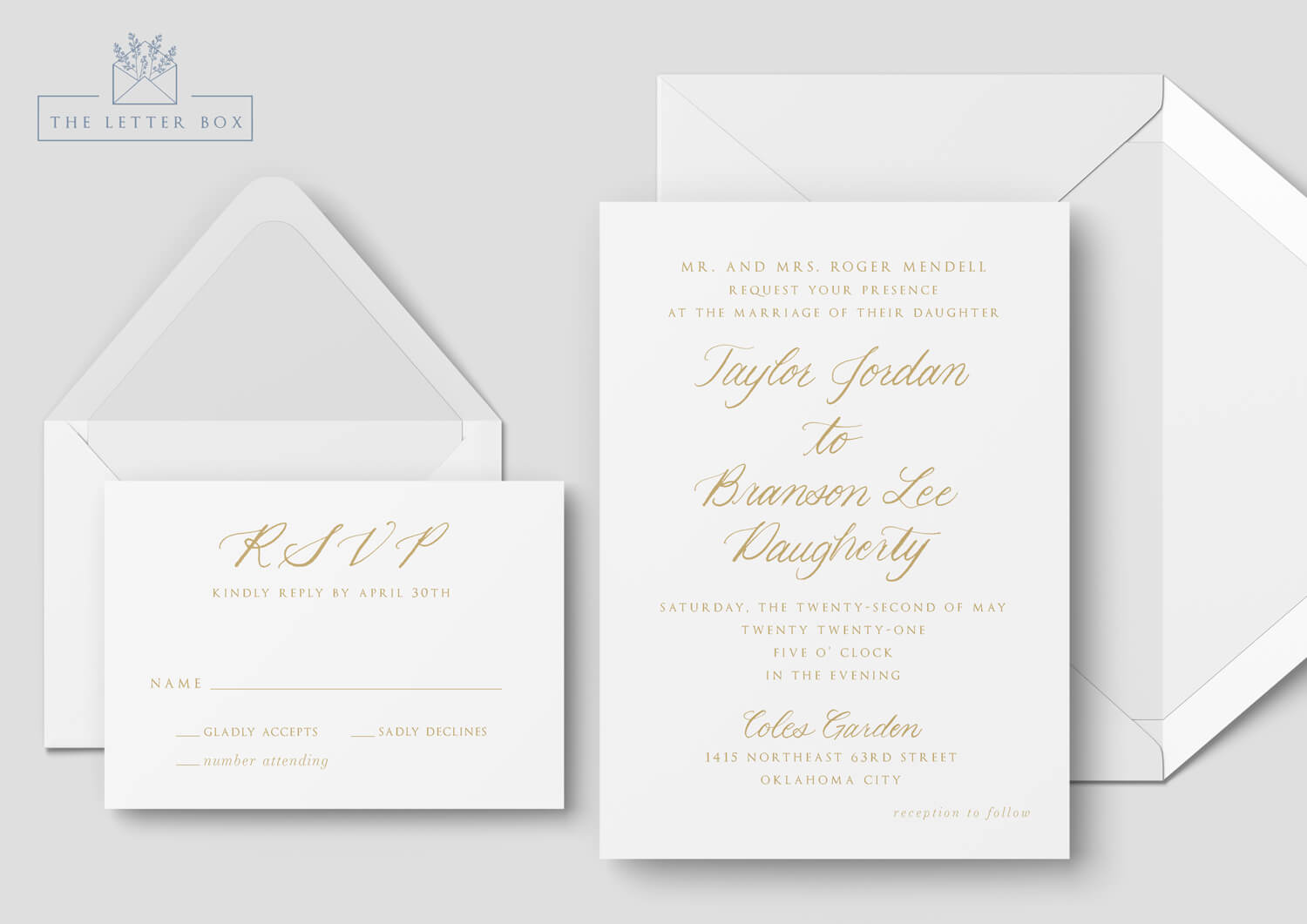 Grace Semi Custom Wedding Invitation Suite