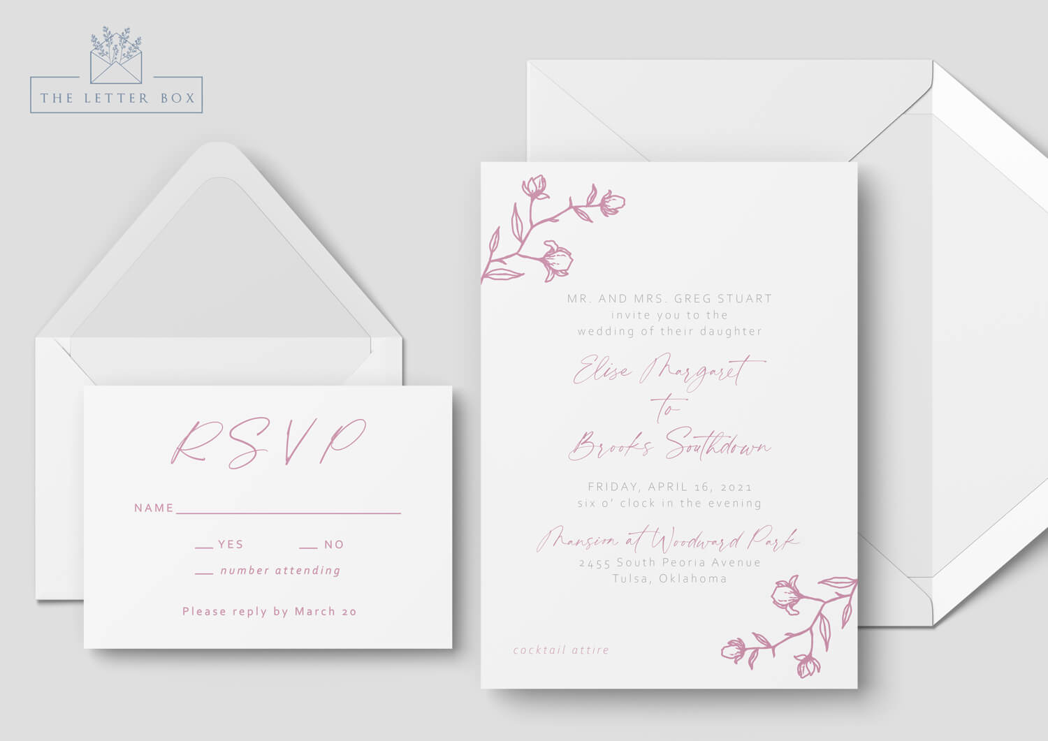Joy Semi Custom Wedding Invitation Suite
