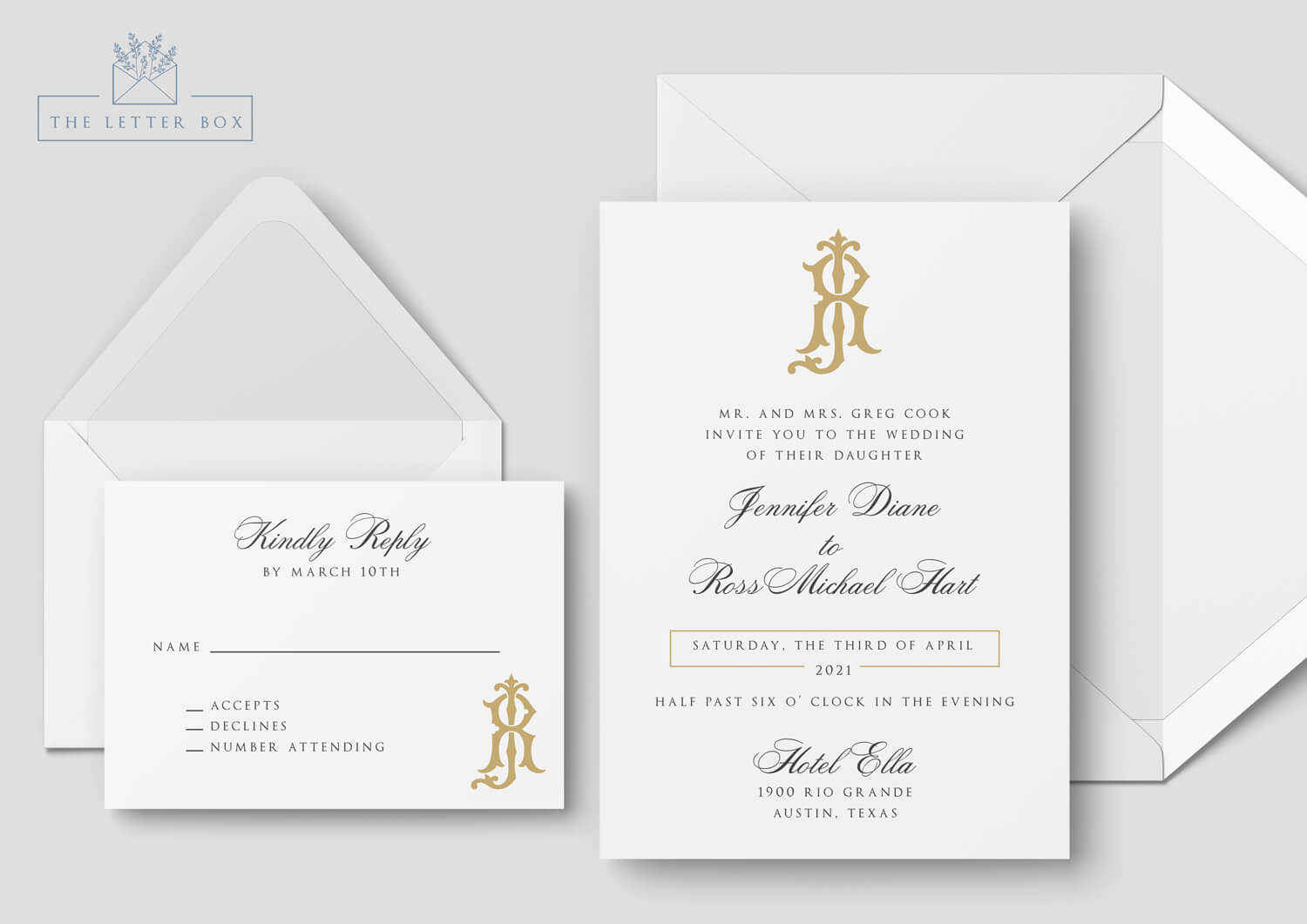 Laud Semi Custom Wedding Invitation Suite