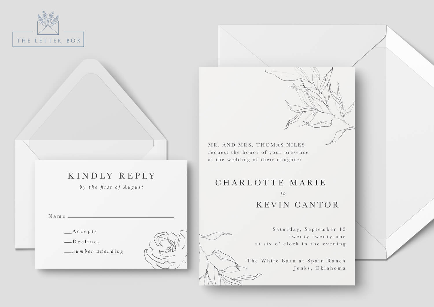Rosy Semi Custom Wedding Invitation Suite